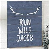Tribal Inspired Personalized Wooden Slat Sign- 16