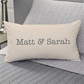 Write Your Own Romantic Expressions Personalized Lumbar Throw Pillow - 19123-LB