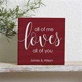 All Of Me... Personalized Shelf Block - 19126
