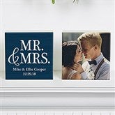 Mr & Mrs Personalized Photo Shelf Blocks- Set of 2 - 19128