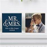 Mr & Mrs Personalized Photo Shelf Blocks- Set of 2 - 19128