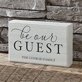Be Our Guest Personalized Rectangle Shelf Blocks - 19130