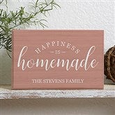 Happiness Is Homemade Personalized Rectangle Shelf Blocks - 19131