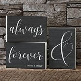 Always & Forever Personalized Shelf Blocks- Set of 3 - 19133