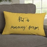 Fun Expressions Personalized Lumbar Throw Pillow - 19134-LB