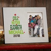 Christmas Tree Family Personalized Frame - 19136