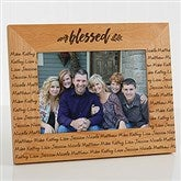 Cozy Home Repeating Name Picture Frame- 5 x 7 - 19141-M