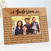 Cozy Home Repeating Name Picture Frame- 4 x 6 - 19141-S