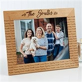 Cozy Home Repeating Name Picture Frame- 8 x 10 - 19141-L