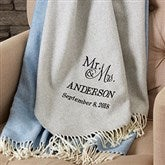 Wedded Pair Wedding & Anniversary Personalized Throw - 19159