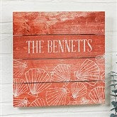 Coastal Home Personalized Wooden Slat Sign- 12