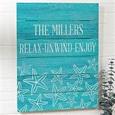 Coastal Home Personalized Wooden Slat Sign- 16