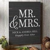 Mr. & Mrs. Personalized Wooden Slat Sign- 16