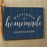 Happiness Is Homemade Personalized Wooden Slat Sign- 16