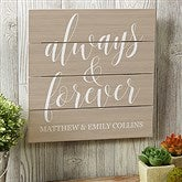 Always & Forever Personalized Wooden Slat Sign- 12