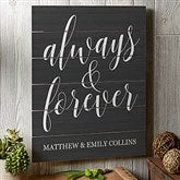 Always & Forever Personalized Wooden Slat Sign- 16