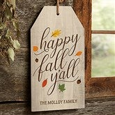 Happy Fall Y'All Personalized Wall Tag - 19180