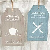 Farmhouse Kitchen Large Personalized Wooden Wall Tag - 19183