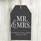Mr. & Mrs. Personalized Large Wood Wall Tag - 19188
