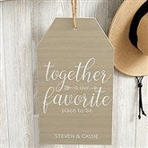Together Is... Personalized Large Wall Tag - 19191