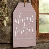 Always & Forever Personalized Wall Tag - 19192