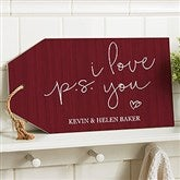 P.S. I Love You Personalized Wood Tag - 19193