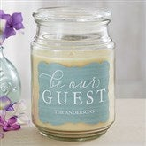 Be Our Guest Personalized Scented Glass Candle - 19196