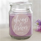 Always & Forever Personalized Scented Glass Candle - 19203
