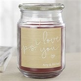 P.S. I Love You Personalized Scented Glass Candle - 19204