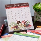 Modern Botanical Personalized Desk Calendar - 19210