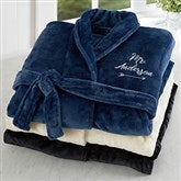 Mr. Embroidered Luxury Fleece Robe - 19219-MR