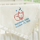 Lovable Characters Embroidered Ivory Baby Boy Blanket - 19220-I
