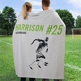 Sports Enthusiast Personalized Sweatshirt Blanket - 19221