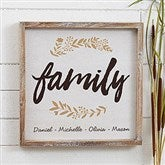 Cozy Home Personalized Barnwood Frame Wall Art- 12' x 12