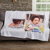 Two Photo Personalized Sweatshirt Blanket - 19247-2