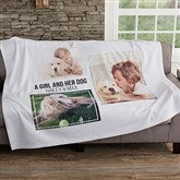 Three Photo Personalized Sweatshirt Blanket - 19247-3