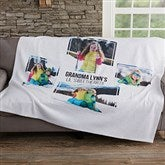 Four Photo Personalized Sweatshirt Blanket - 19247-4