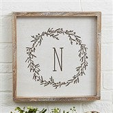 Farmhouse Floral Personalized Whitewashed Frame Wall Art- 12