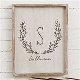 Farmhouse Floral Personalized Whitewashed Frame Wall Art- 14