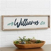 Cozy Home Personalized Long Barnwood Frame Wall Art- 30