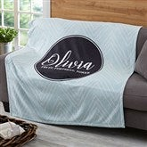 Name Meaning Personalized Geometric 50x60 Fleece Blanket - 19258