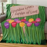 Grandma's Garden Personalized 50x60 Fleece Blanket - 19261
