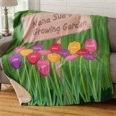 Grandma's Garden Personalized Premium 50x60 Sherpa Blanket - 19262