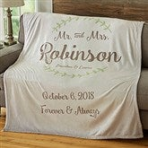 Mr. & Mrs. Personalized Wedding & Anniversary 50x60 Fleece Blanket - 19268