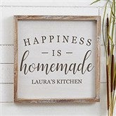Happiness is Homemade Personalized Barnwood Frame Wall Art- 12