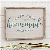 Happiness is Homemade Personalized Barnwood Frame Wall Art- 14