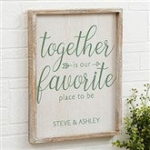 Together... Personalized Barnwood Frame Wall Art- 14' x 18