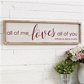 All of Me... Personalized Barnwood Frame Wall Art - 30