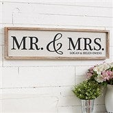 Mr. & Mrs. Personalized Barnwood Frame Wall Art - 30