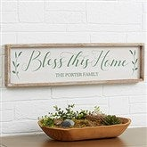 Bless This Home Personalized Barnwood Frame Wall Art - 30